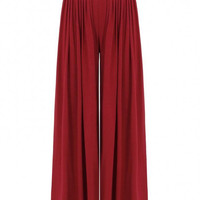 Red High-Rise Trousers