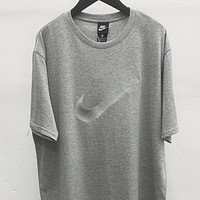 NIKE New fashion hook couple top t-shirt Gray