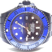 Rolex Deepsea Sea-Dweller 116660 Black & Blue Dial Full Black PVD Coated Watch