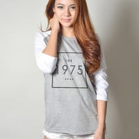 The 1975 Band Matthew Healy Indie Rock Raglan Long Sleeves T Shirts for Women