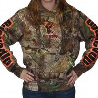 Pullover Hoodie - Realtree APG Camo with Orange Logo (W)