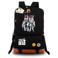 The Walking Dead Fashion Popular Canvas Shoulder Bags/Backpack/Rucksack Zombie