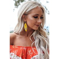 Nora Feather Earrings (Yellow)