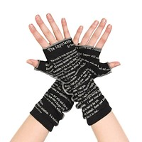 The Importance of Being Earnest Writing Gloves
