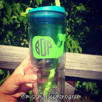 24 oz. Monogrammed Insulated Bubba Tumbler
