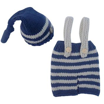 born Baby Photography Props Girls Boys Crochet Knit Costume Photo Baby Clothes Hat
