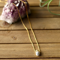 Dainty Pineapple Stone Necklace