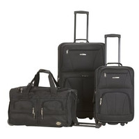 F165-BLACK  3 Pc Luggage Set