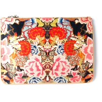 ALEXANDER MCQUEEN patchwork floral skull charm pouch