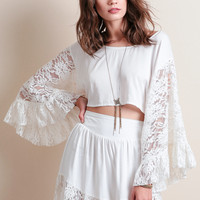 Be Peasant Lace Top By Somedays Lovin