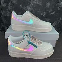 Morechoice Tuhz Nike Air Force 1 Low Sneakers Reflective Casual Skaet Shoes 315122-104