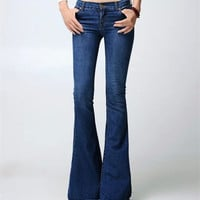 Bodycon Low Waist Show thin Flared Jeans