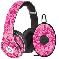 Pink Flower Power Decal Skin for Beats Studio Headphones & Carrying Case by Dr. Dre