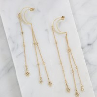 By the Light of the Moon Earrings in Gold