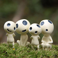 Cute toys Princess Mononoke luminous tree elves Spirit Kodama gardening potted decoration Micro Landscape accessories