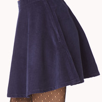 Throwback Corduroy Skater Skirt