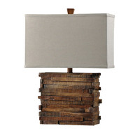 Style Craft Restoration Wood Look Table Lamp