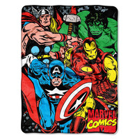Marvel Avengers We Fight  Micro Raschel Blanket (46in x 60in)