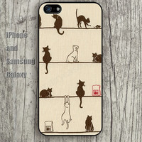 colorful cartoon cat iphone 6 6 plus iPhone 5 5S 5C case Samsung S3,S4,S5 case Ipod Silicone plastic Phone cover Waterproof