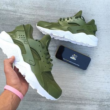 Nike Air Huarache Run Ultra Fashion Running Sport Shoes Sneakers Shoes Olive Green