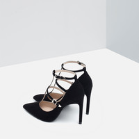 HIGH HEEL SHOES WITH ANKLE STRAPS