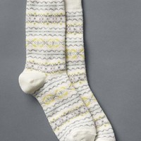 Gap Women Cozy Allover Fair Isle Socks Size One Size