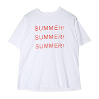 SUMMER Text T-Shirt | STYLENANDA
