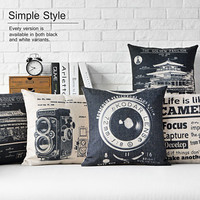 Vintage Camera Cushion Retro Buildings Decorative Pillow Home Decor Throw Pillow Sofa Cushions Free Shipping