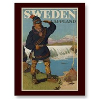 Lappland Sweden Post Card from Zazzle.com