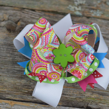 """Layered 6"""" Bow by Mandy Lou {Several Colors Available}"""