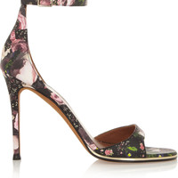 Givenchy - Floral-print leather sandals