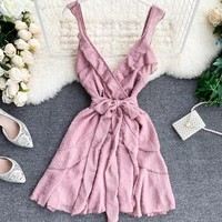 Pink Thrill Sashed Cocktail Dress