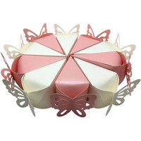 50 pieces Decoupage Butterfly Cake Candy Box Chocolate Paper Boxes Wedding Gifts Favor Boxes For Guests Wedding Souvenir