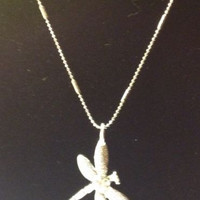 Firefly Sterling Silver Plated Zircon Pendant with Necklace