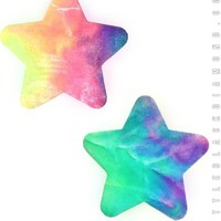 Star Pasties in Bubble Tie Dye Velvet