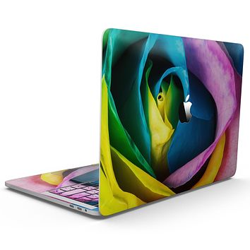 Rainbow Dyed Rose V3 - MacBook Pro with Touch Bar Skin Kit