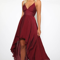 Date Night Dress - Maroon
