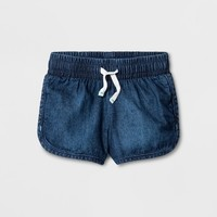 Toddler Girls' Denim Short - Cat & Jack™ Dark Wash