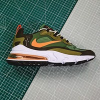 Travis Scott X Nike Air Max 270 React Olive Green Running Shoes