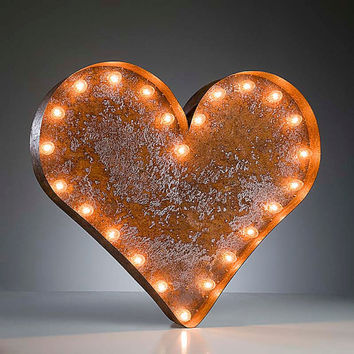 Vintage Marquee Lights - Ready to Ship - Heart