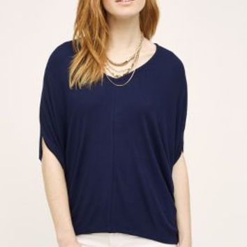 Bordeaux Ribbed Cocoon Tee