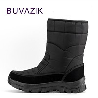 2017 men waterproof hunting boots thickening thermal snow boots outdoor warm fur shoes military desert boots male