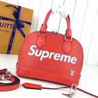 LV SUPREME Women Pure Leather Crossbody Satchel I-LLBPFSH