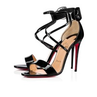 Christian Louboutin Cl Choca Black Patent Leather 18s Sandals 1181112bk01