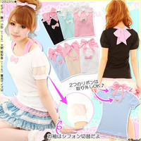 Rakuten: [♪ sleeve reshuffling pass re-cut-and-sew YMK-388| with chiffon Halter ribbon] P]It has been had ◆- Shopping Japanese products from Japan