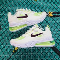 Nike Air Max 270 React White/green Running Shoes - Best Online Sale