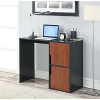 Students Modern Cubes Basic Writing Computer Desk In Black Cherry Finish