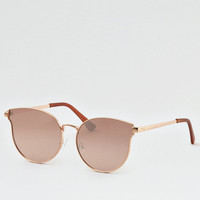 Rose Gold Flat Lens Sunglasses, Rose Gold