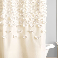 Shabby Chic Charmeuse Ivory Shower Curtain