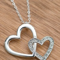 Montana Silversmiths® Silver Double Heart Necklace